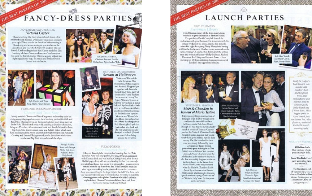 Aynhoe Park in Tatler Party Guide