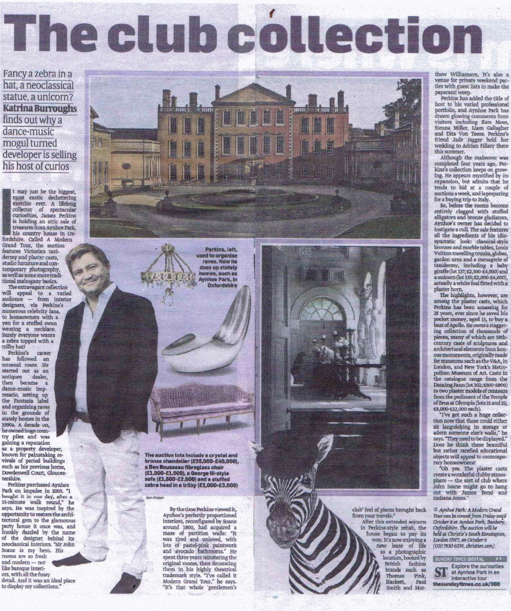 Aynhoe Park in The Sunday Times