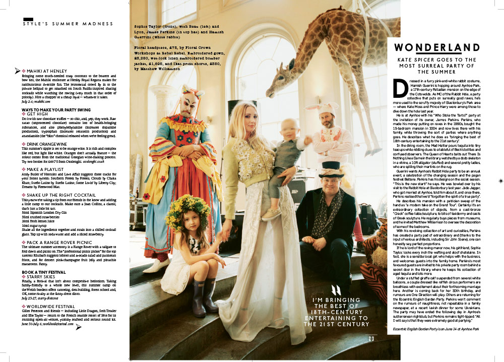 Aynhoe Park in Style Magazine