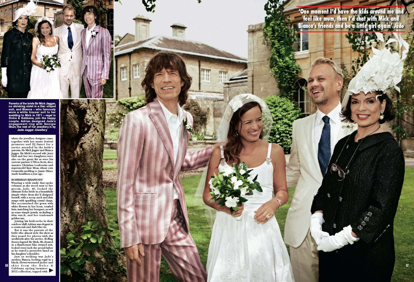 Jagger son wedding